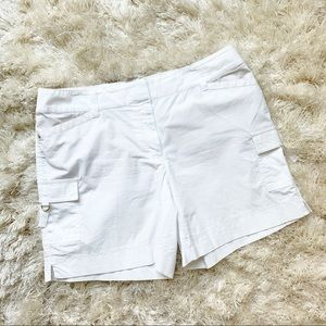White House Black Market White Pocket Shorts 12